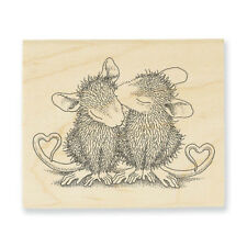 HOUSE MOUSE Valentine Kiss Love Wood Mounted Rubber Stamp STAMPENDOUS HMV37 New