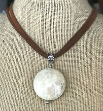 Natural Shell Pendant Necklace Chakra Fengshui USA