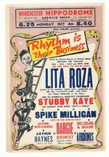 LITA ROSA SPIKE MILLIGAN STUBBY KAYE MANCHESTER HIPPODROME ARDWICK GREEN 1954