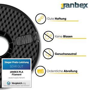 3D Filament JANBEX Premium PLA  1,75mm/ 1 kg für 3D Drucker (DHL)