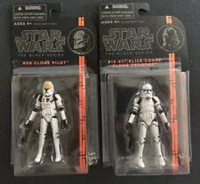 "Star Wars The Black Series 3.75"" #08 Clone Pilot & #12 41st Elite Clone Trooper"