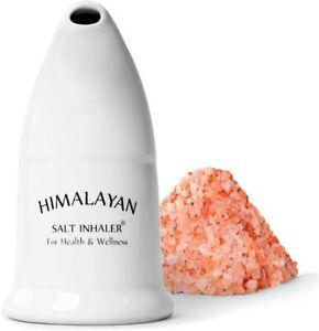 Natural Himalayan Salt Pipe Inhaler Asthma Improve Breath Therapy Free Salt