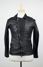 New. GIORGIO BRATO Black Leather Zip-Up Jacket Size 48/38/S $1840