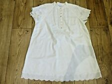 GHOST PRETTY CREAM 100% COTTON TUNIC STYLE BLOUSE UK 14 POINTELLE & EMBROIDERY