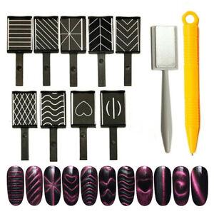 11Pcs/Set Magnet Magnetic Stick Pens Cat Eye Gel Polish UV LED Manicure Nail Art