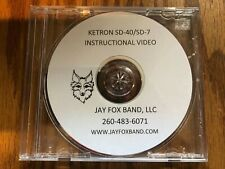 Ketron SD-40, SD-7, Instructional DVD w/rewriten colorized owners manual