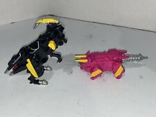 Power Rangers Dino Charge Black Parasaurolophus Zord  PARA ZORD & Pink ZORD Lot