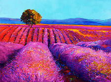 A0 CANVAS PRINT PURPLE HILL TAS VIC  SA NSW LANDSCAPE OUTBACK SUNSET PAINTING