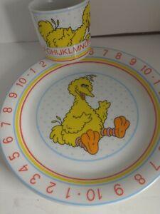 sesame street Big bird kids Dishes