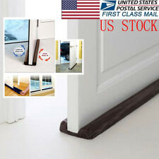 US Twin Door Doorstop Decor Draft Dodger Guard Stopper Energy Saving Protector