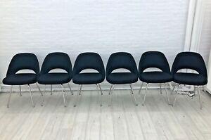 Eero Saarinen Knoll Armless Executive Dining Office Chairs MCM Set Of 6