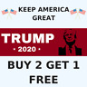 Trump Keep America Great 2020 President Decal Bumper Sticker Make Again Donald