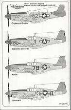 Warbird P-51C/D  Mustang, Tuskegee, Red Tail Aircraft Decals Part I 1/48 001