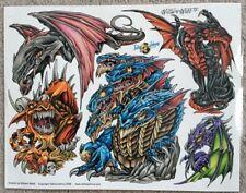 "Tattoo Studio Shop Flash Single By William Webb Medieval Dragons 11""X14"" Print"