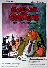 KONDOM DES GRAUENS - 1994 - Plakat - Puppen Theater - König - Vingon - Poster