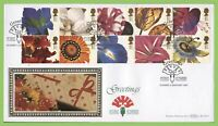 G.B. 1997 Greetings Flowers set on Benham First Day Cover, Staines