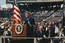 President John F Kennedy Moon Speech Rice University Stadium Houston TX Postcard
