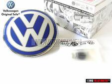VW New Beetle Rear Boot Twisting Badge Chrome Blue Swivel Version