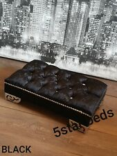 FOOTSTOOL, FOOT REST , POUFEE STOOL IN CRUSH VELVET AND QUEEN LEGS AND FREE P&P