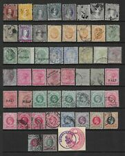 Collection of mixed used Natal (South Africa) stamps.