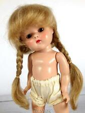 """BLONDE MOHAIR DOLL WIG SIZE 5/6"""" FITS VINTAGE GINNY, MUFFIE, GINGER, MA"""