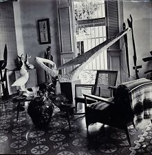 vintage photo Cuban sculptor artist interior design architecture Cuba ca 1960