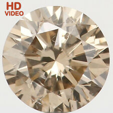 3.70 MM 0.187 Ct Natural Loose Diamond Cut Round Shape Brown Color SI1 N6064