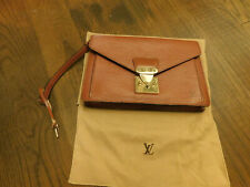 Louis Vuitton Sellier Dragonne Clutch Hand Bag Epi Leather Envelope w/ key Brown