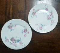 """Vintage Germany Roman V Serving Plates with Pink Flowers 6"""""""
