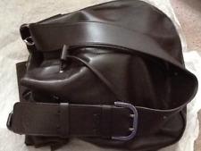 TOD'S Calfskin Leather Drawstring Bucket Shoulder Bag, Brown. New.