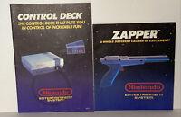 VTG Original Nintendo NES Zapper & Counsel Control Deck Instructions Manual Book