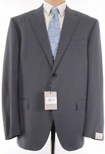 Corneliani NWT Suit Size 48R In Gray With Fine Light Blue Stripes $1,895