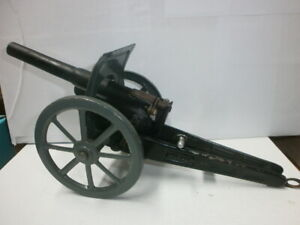 Old Märklin Sheet Metal Cannon Gun For Ground Soldiers Length 9 1/8in