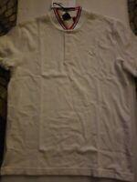 NWT TRETORN Men's Short Sleeve Polo Shirt Size L RED WHITE BLUE EST. 1891 Sweden