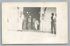Military Prison RPPC Antique Navy USN Photo—Jail Soldiers WWI Naval 1910s