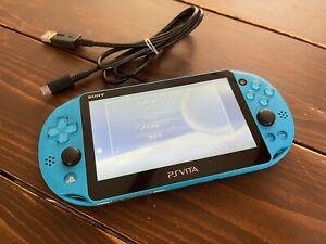 Sony PS Vita Aqua Blue PCH 2000 ZA23 Console USED with USB charger  PlayStation