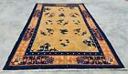 Distressed Hand Knotted Vintage Tibet Wool Area Rug 6 x 4 Ft (12498 KBN)