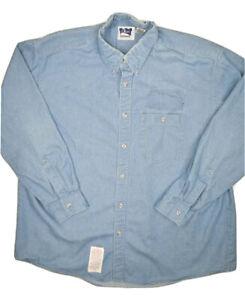 Bulwark Classic FR Shirt Mens XL Blue Long Sleeve Flame Resistant Work Shirt USA