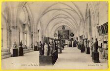 cpa 89 - SENS (Yonne) La SALLE SYNODALE Art Musée Sculptures Tableaux