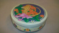 Strawberries in a Basket, Decorative Metal Cookie or Candy Tin