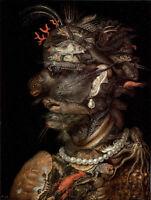 Dream-art Oil painting Giuseppe Arcimboldo - The Water Aquatic portrait canvas