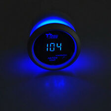 "2"" 52mm Black Car Auto Digital Blue LED Water Temp Fahrenheit F LED Gauge Kit"