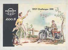1957 Zundapp 200 200s Challenger Motorcycle Brochure wt8891