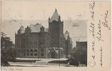 1906 NORMANDY Missouri MO Postcard HIGH SCHOOL Building