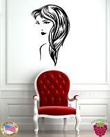 Wall Stickers Vinyl Decal Portrait Beautiful Girl Hair Hair Woman z1099