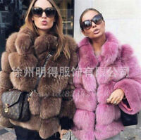Sexy Kurzgröße Damenmode Pelzmantel Jacket Winter Strass Fashion Coat Mantel TOP