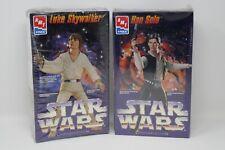 AMT/ERTL Han Solo Luke Skywalker Collector Edition Model Kit Figures SEALED