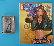 FIGURINE COLLECTION OFFICIELLE MARVEL EAGLEMOSS N°45 SHADOW CAT + FASCICULE