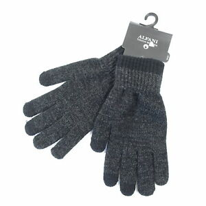 ALFANI REPREVE TOUCH SCREEN CHARCOAL GRAY ONE SIZE KNIT GLOVES MENS NWT NEW