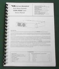 Vertex Vxr-9000 (uhf) Service Manual - ring bound with protective covers!